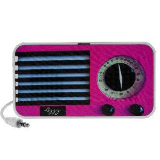 Vintage Radio - Pink Mp3 Speaker