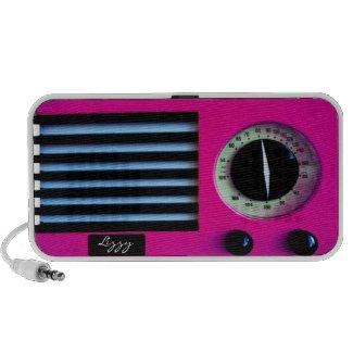 Vintage Radio - Pink zazzle_doodle