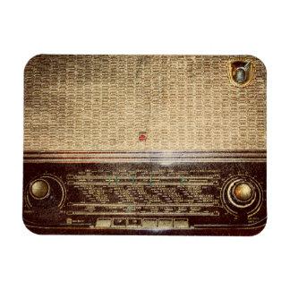Vintage radio rectangular photo magnet