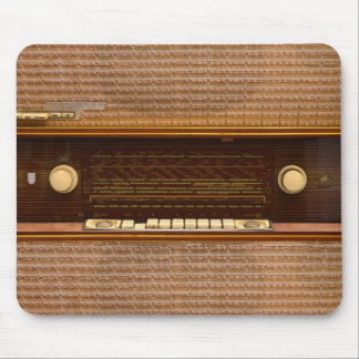 vintage radio set retro music tuner panel texture mouse pad