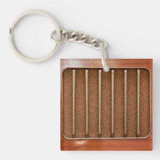 Vintage radio speaker keychain