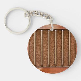 Vintage radio speaker Single-Sided round acrylic keychain