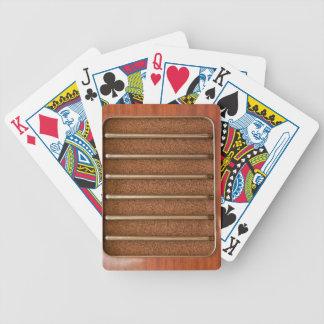 Vintage radio speaker deck of cards