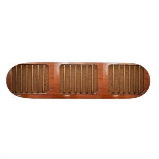 Vintage radio speaker skate board decks