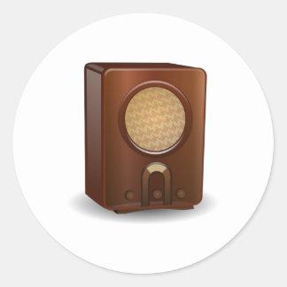 Vintage Radio Classic Round Sticker