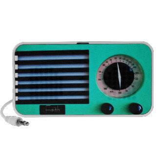 Vintage Radio - Turquoise Notebook Speaker