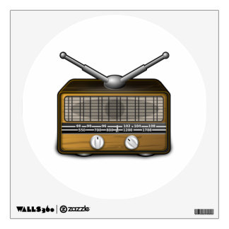 Vintage Radio Wall Decal