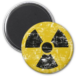 Vintage Radioactive 2 Inch Round Magnet