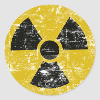 Vintage Radioactive Round Stickers