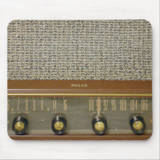 Vintage Radios in Wood Mouse Pad