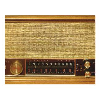 Vintage Radios in Wood Postcard