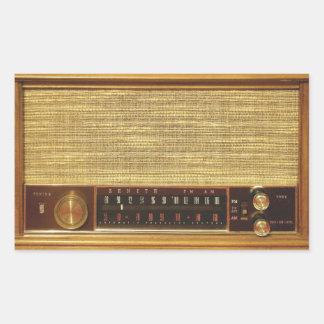 Vintage Radios in Wood Stickers