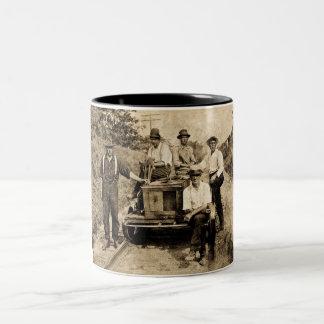 Vintage Rail Crew circa 1890s-1910 Two-Tone Coffee Mug