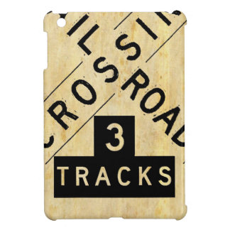Vintage Railroad Crossing Crossbuck iPad Mini Case