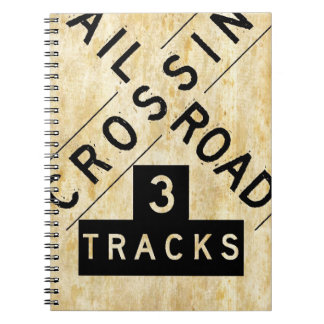 Vintage Railroad Crossing Crossbuck Notebook