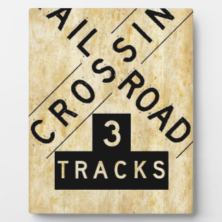 Vintage Railroad Crossing Crossbuck Plaque