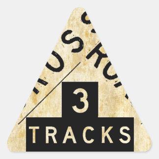 Vintage Railroad Crossing Crossbuck Triangle Sticker