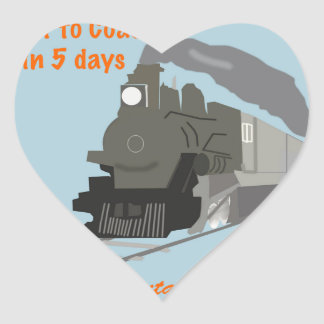 Vintage Railroad Heart Sticker