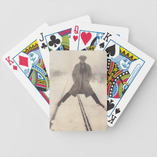 Vintage Railroad Photo c 1920s Bicycle Playing Cards