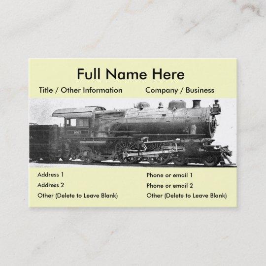 Vintage railroad photograph bookmark business card zazzle vintage railroad photograph bookmark business card colourmoves