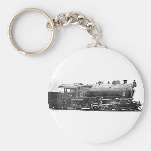 Vintage Railroad Photograph Bookmark Keychain