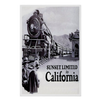 Vintage Railroad Poster - Southern Pacific 1920s