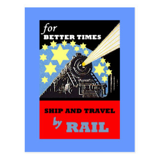 VINTAGE RAILROAD RAIL TRAVEL ADVERTISING POSTCARD