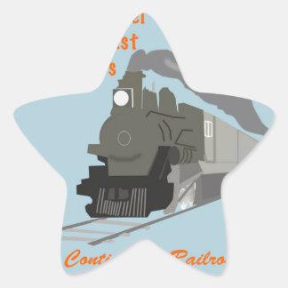Vintage Railroad Star Sticker