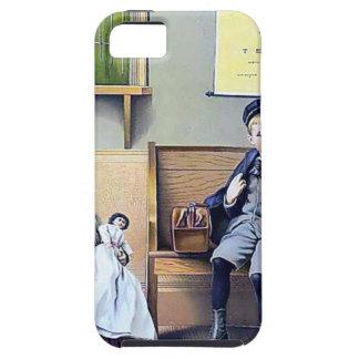Vintage Railroad Station Boy Girl children dog iPhone SE/5/5s Case