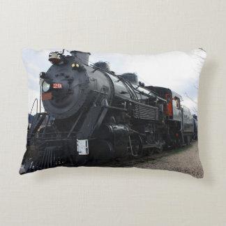 Vintage Railroad Steam Train Decorative Pillow