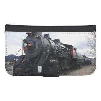 Vintage Railroad Steam Train Galaxy S4 Wallet Case