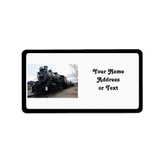 Vintage Railroad Steam Train Address Label