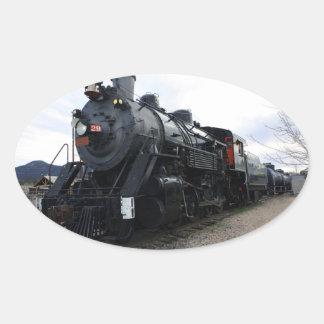 Vintage Railroad Steam Train Oval Sticker