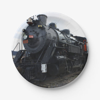 Vintage Railroad Steam Train Paper Plate