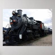 Vintage Railroad Steam Train Poster