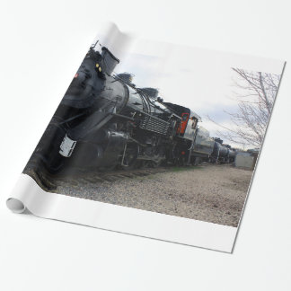 Vintage Railroad Steam Train Gift Wrapping Paper