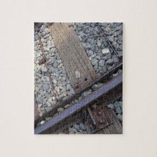 vintage railroad track photo jigsaw puzzle