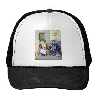 Vintage Railroad Train Station Girl Boy Trucker Hat