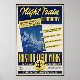 Vintage Railroad Travel Poster