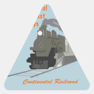 Vintage Railroad Triangle Sticker