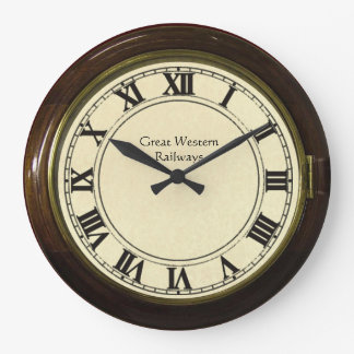 vintage railway station look clock