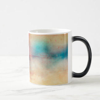 Vintage Rainbow Distressed Ombre Texture Print Magic Mug
