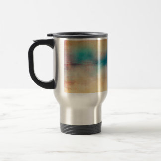 Vintage Rainbow Distressed Ombre Texture Print Travel Mug