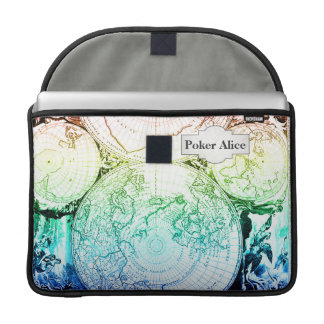 Vintage Rainbow Old Maps Design for Home Casino MacBook Pro Sleeve