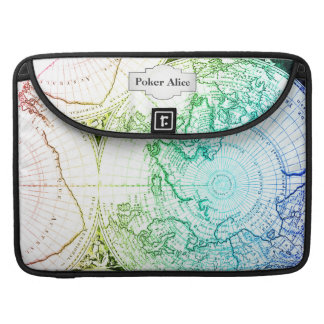 Vintage Rainbow Old Maps Design for Home Casino MacBook Pro Sleeves