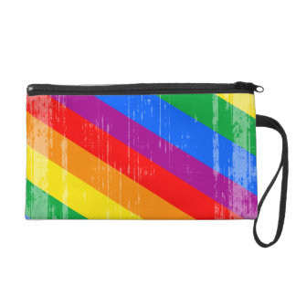 Vintage Rainbow Stripes.png Wristlet Clutch