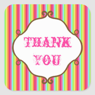 Vintage Rainbow Thank You Stickers