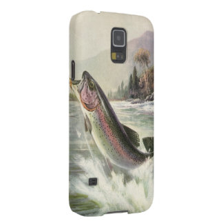 Vintage Rainbow Trout Fish Fisherman Fishing Cases For Galaxy S5