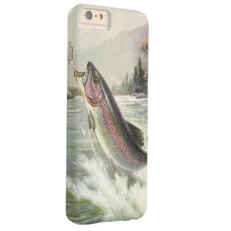Vintage Rainbow Trout Fish Fisherman Fishing Barely There iPhone 6 Plus Case