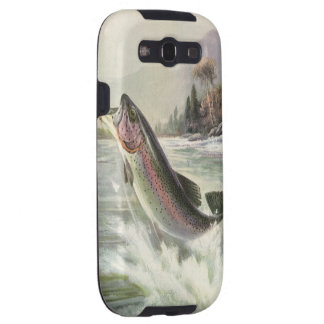 Vintage Rainbow Trout Fish Fisherman Fishing Galaxy S3 Cases